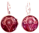 Batik - silver plated earrings