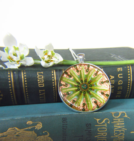 Botanic - silver plated pendant and necklace