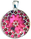 Cherry - silver plated pendant and necklace
