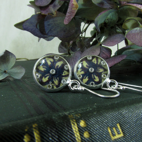 Fleur - silver plated earrings