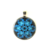 Fractal - silver plated pendant and necklace