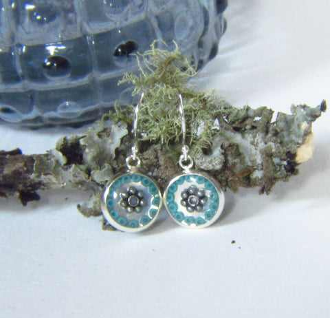 Glauca - silver plated earrings