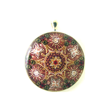 Indian star - silver plated pendant and necklace