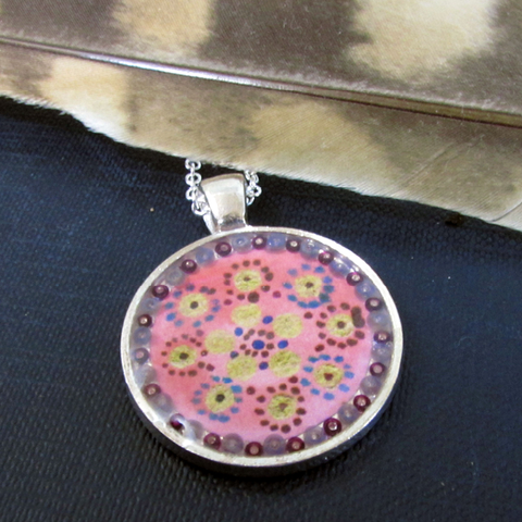 Joy - silver plated pendant and necklace