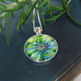 Neptune - silver plated pendant and necklace