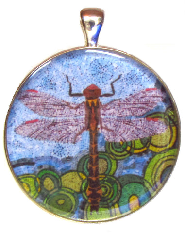 Odonata - silver plated pendant and necklace