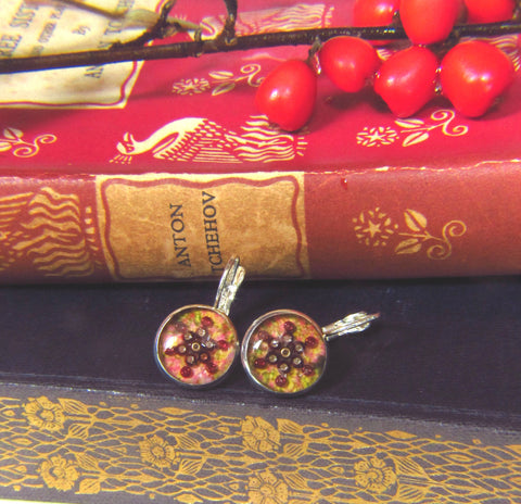 Pimpernel - silver plated earrings