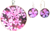 Posy - silver plated necklace and earrings set