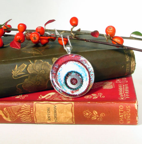 Redcurrant - silver plated pendant and necklace