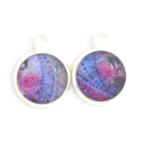 Rosa - silver plated earrings