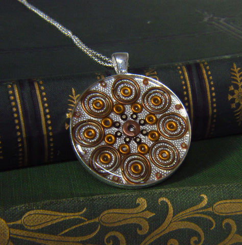 Saffron - silver plated pendant and necklace