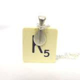 Patina- Scrabble tile necklace