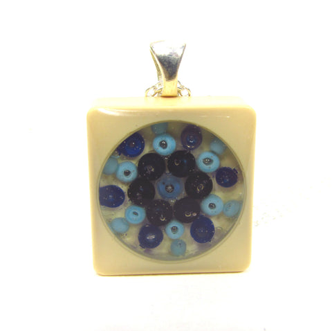 Bleu - Scrabble tile necklace