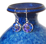 Tempest - silver plated earrings