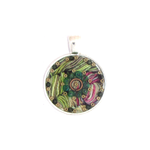 Yarn - silver plated pendant and necklace