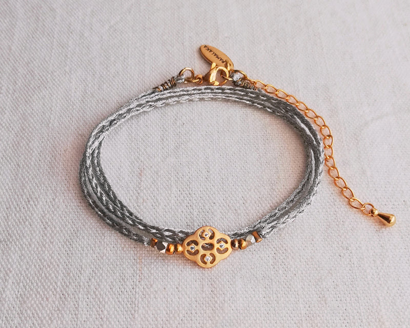 Bracelet fin multi tour Gold and silver - Boho
