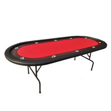 "96"" Light Series Poker Table with Racetrack Cup Holders Speed Cloth Folding Leg"
