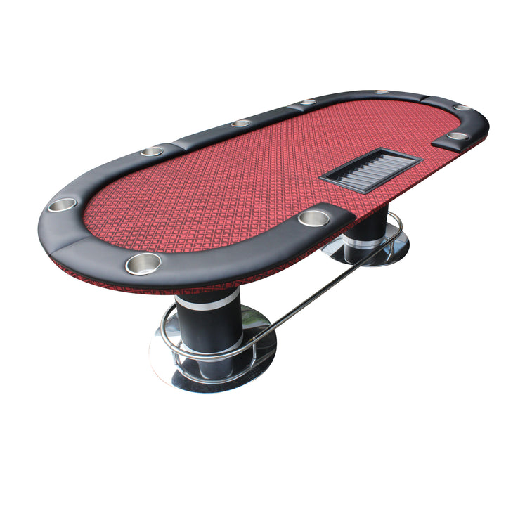 96 Knight-Armour Poker Table With Detachable Armrest Jumbo Cup Holders Chip Tray