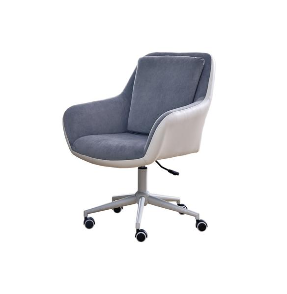 Office/Poker White PU Leather Home use Office Chair Grey