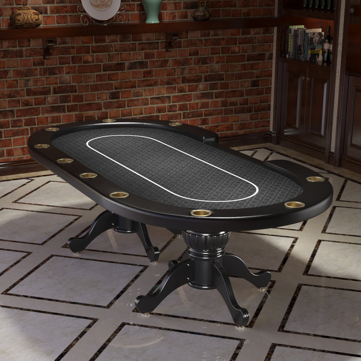 96 AURA POKER TABLE WITH THICKENED ARMREST JUMBO CUP HOLDERS BET LINE
