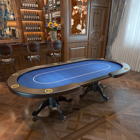 "96"" Aura Poker Table with Thickened Armrest Jumbo Cup Holders Bet line"