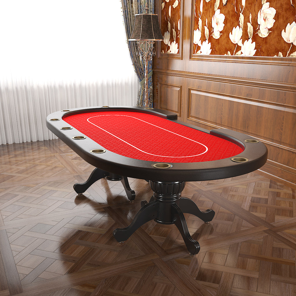 96 Aura Poker Table With Thickened Armrest And Jumbo Cupholders
