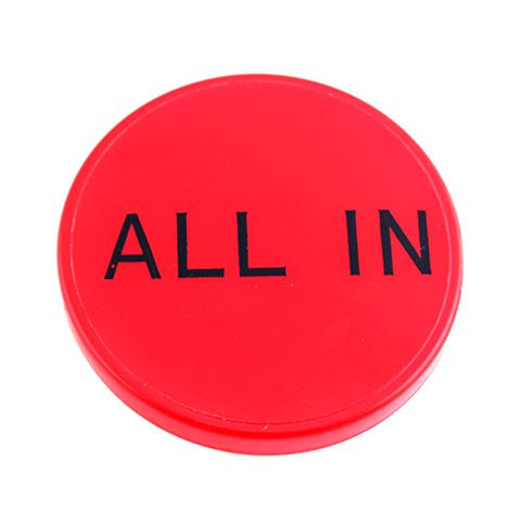 ALL IN Button Texas Holdem