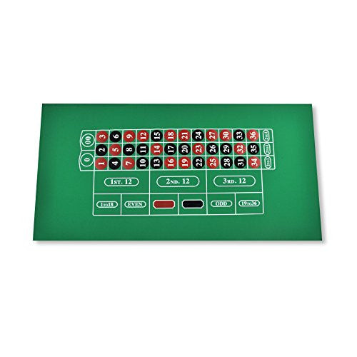 Casino Style Poker Gaming Mat Roulette layout Table Felt Poker Mat