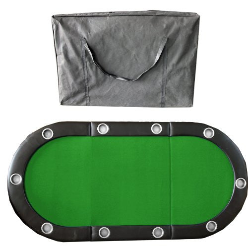 84 Inches 10 Player Texas Holdem Folding Poker Table Top