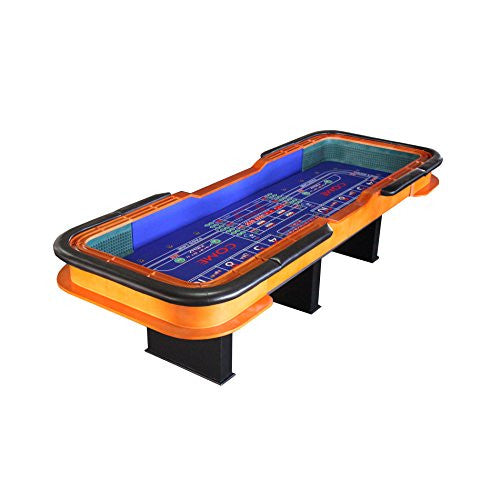 12 Foot Deluxe Craps Dice Table With Diamond Rubber