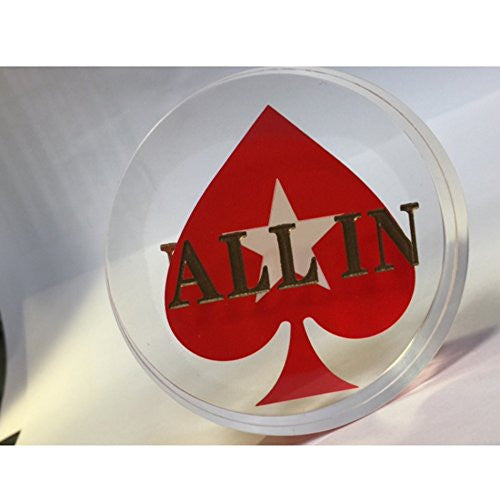 Acrylic Spade Poker ALL IN Button - IDS Online Shop