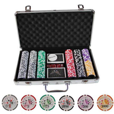 300 BEN FRANKLIN CASINO TABLE POKER CHIPS SET W/ CARDS - IDS Online Shop