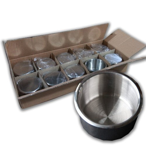 10PCS STAINLESS STEEL POKER TABLE CUP HOLDER REGULAR SIZE