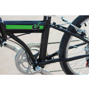 "unYOUsual U arc 20"" Folding City Bike Bicycle 6 Speed Steel Frame Shimano Gear WANDA Tire Black"