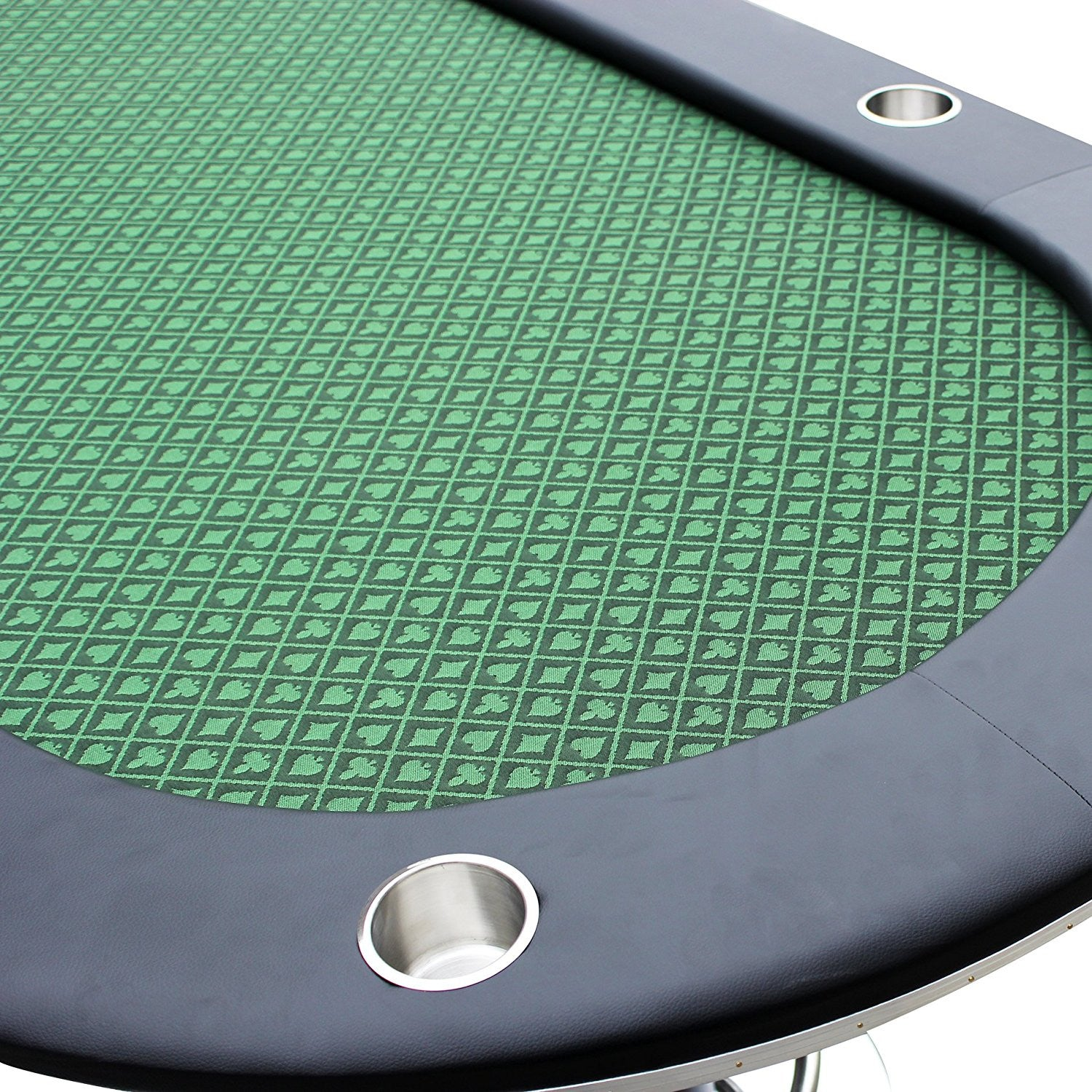 """96"""" Texas Hold em Oval Poker Table 10 Players With Stainless Steel"""