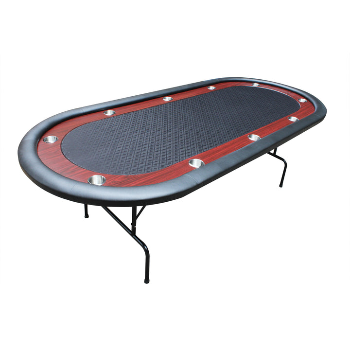 96 LIGHT SERIES POKER TABLE WITH RACETRACK CUP HOLDERS SPEED CLOTH FOLDING LEG