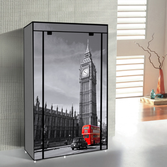"42"" Portable Non Woven Canvas Cloth Wardrobe Storage-Big Ben - IDS Online Shop"