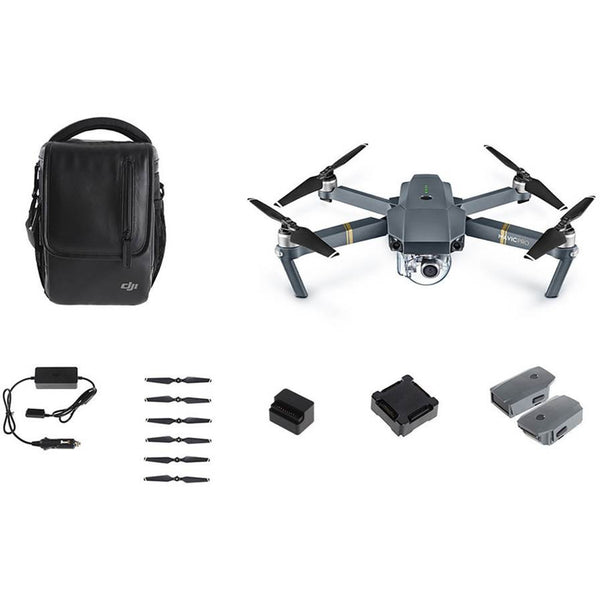 DJI MAVIC PRO 4K Camera + Fly More Combo CASE, CAR CHARGER, 2 EXTRA BATTERIES