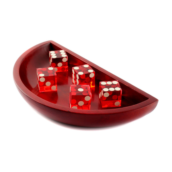 IDS craps dice bowl boat with 5 dices set