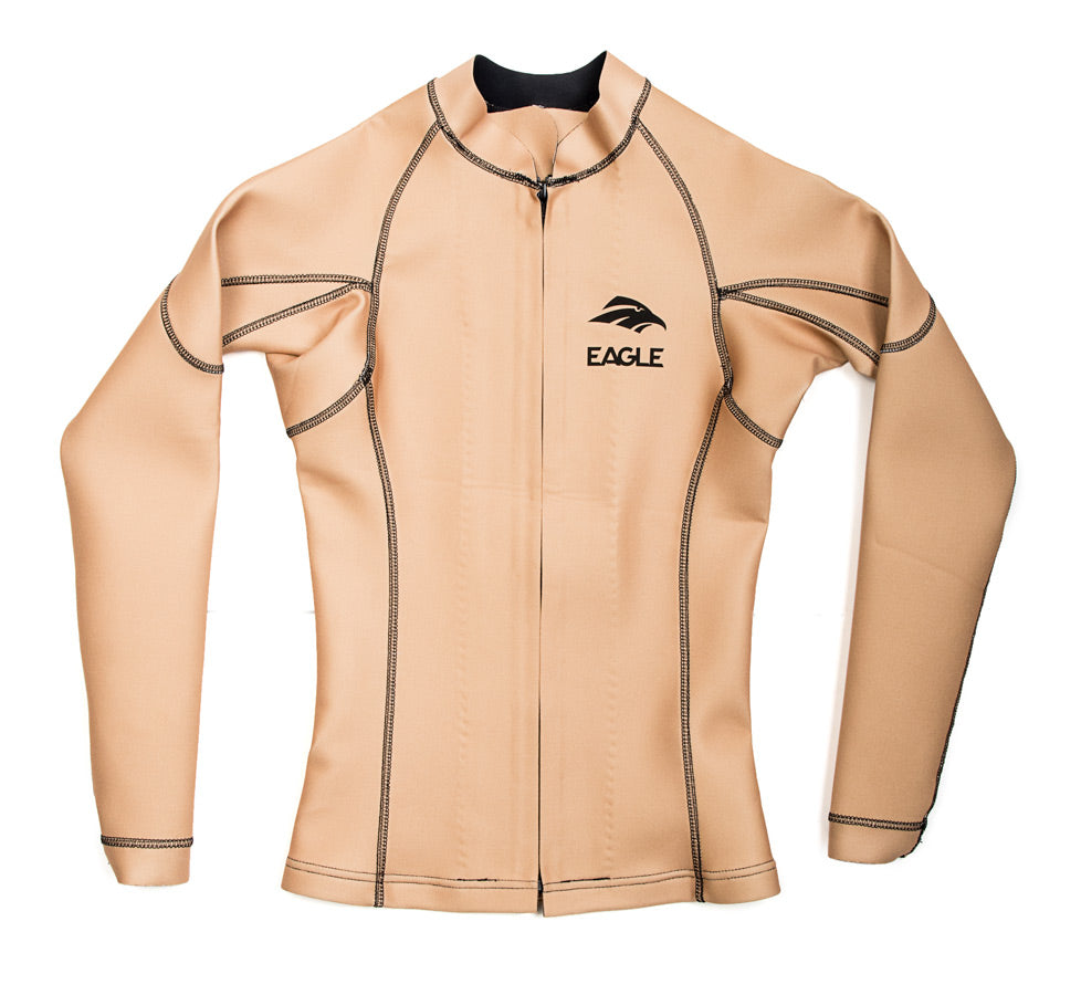 Eagle Womens FreeFlex Heater Shirt Front Zip - Nude Color
