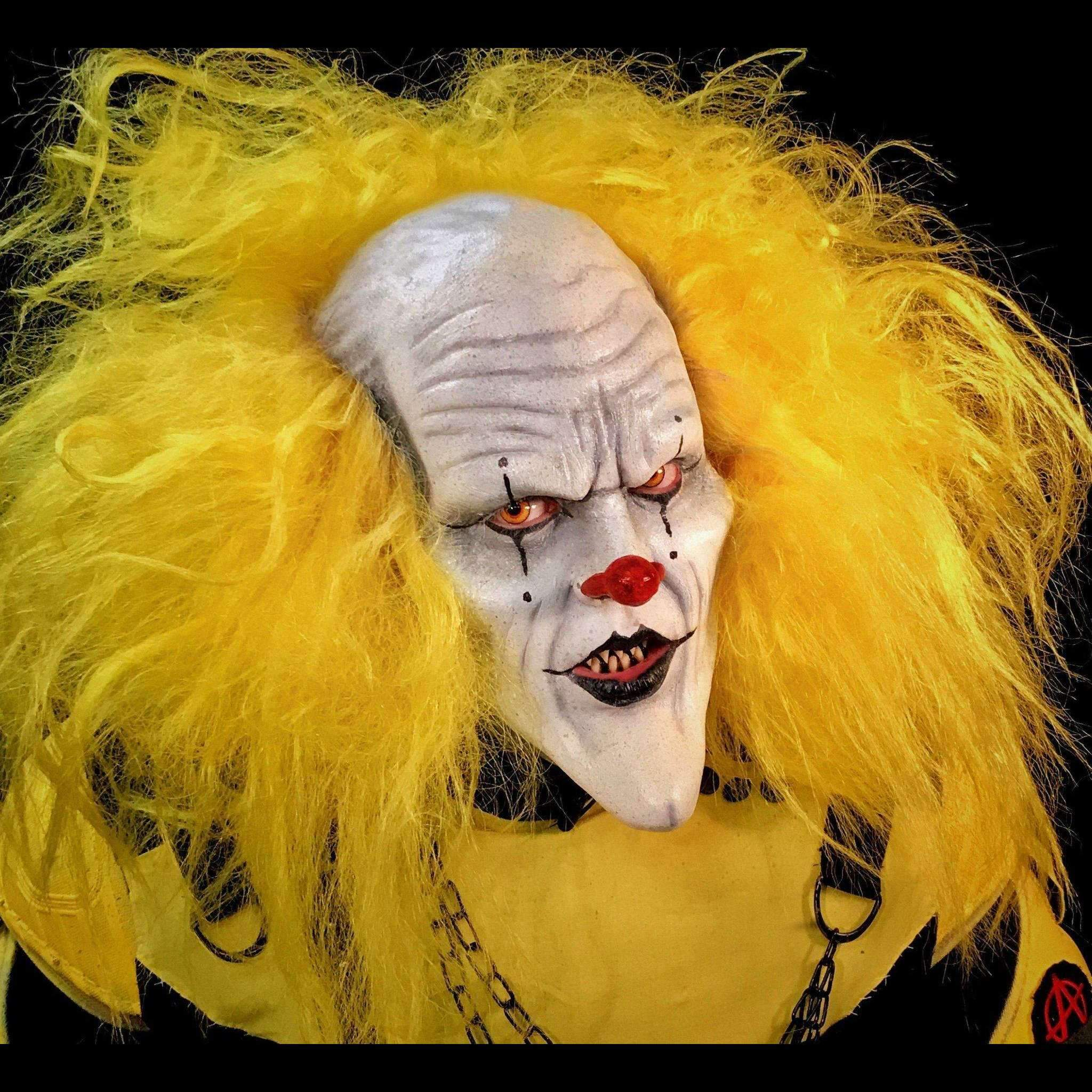 The Scream Team Yellow Clown Wig | Deluxe Halloween Wig