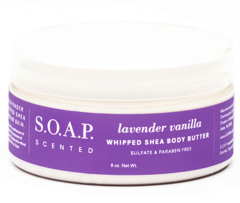 Lavender Vanilla Whipped Shea Body Butter-FULL SIZE