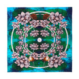 Night Lotus Silk Crepe De Chine Shawl - Special Edition