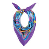 The French Bulldog Silk Crepe De Chine Neckerchief in Purple