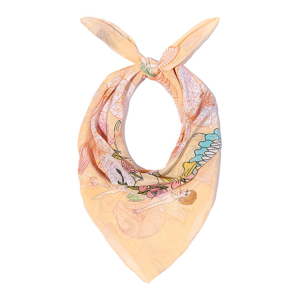 Woodland Rabbit Silk Crepe De Chine Neckerchief