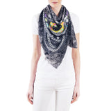 Chain Galaxy Silk Crepe De Chine Shawl