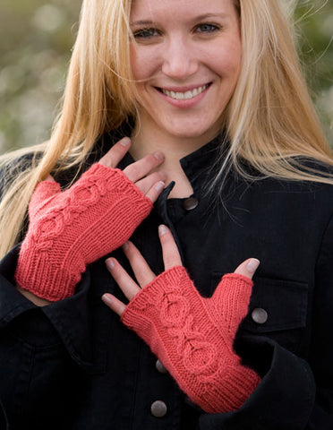 Elegy Fingerless Mitts -- Knitting Patterns -- PDF Download