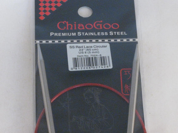 Chiaogoo Red Lace US 8 (5 mm) circular needles (24