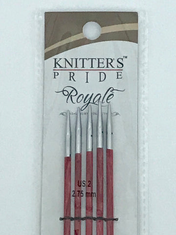 Knitter's Pride Royale US 2 (2.75 mm) -- Double Pointed Needles -- 6""