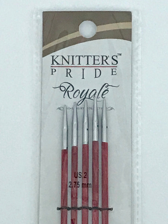 Knitter's Pride Royale US 2 (2.75 mm) -- Double Pointed Needles -- 6